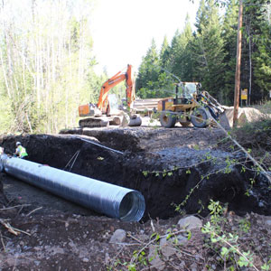 Tranquille-Criss Creek Road Flood Repairs